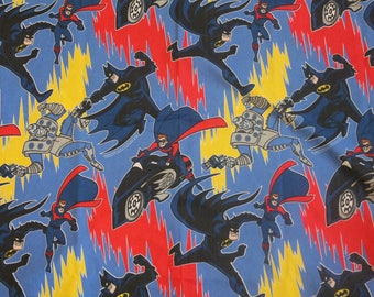 Batman and Robin flat bed sheet bedding linens twin 1996