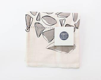 Screen Printed Tea Towel Flour Sack Tea Towel
