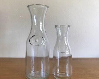 farmhouse glass carafe