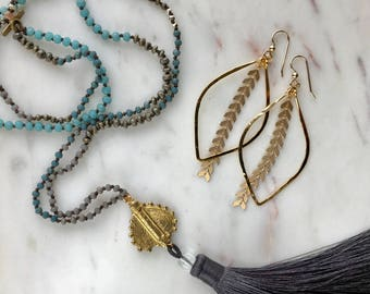 Ocean Malasana Tassel Necklace