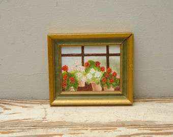 Mini Painting Geraniums