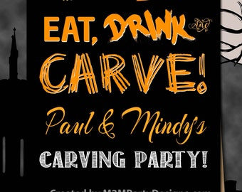 Halloween Party. 30th, 40th, 50th Birthday  PERSONALIZE Poster. Backdrop - Printable sign - DIY Print , dessert table,