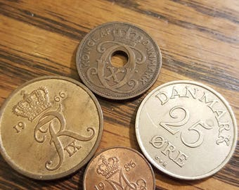 1929-1986  Denmark Coin Lot of 4