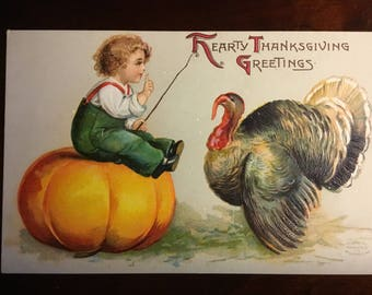Vintage Thanksgiving postcard - International Art 1906
