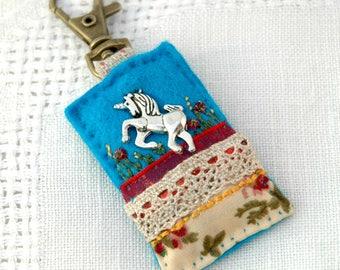 unicorn bag charm, unicorn lovers, special gifts for girls, hand sewn unicorn charm, mystical creatures, magical unicorn, UK unicorn gifts