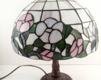 Stained glass lamp / floral / Pastels / Nursery