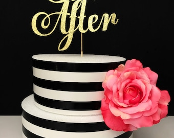 Ever after cake topper- wedding- bridal shower cake topper