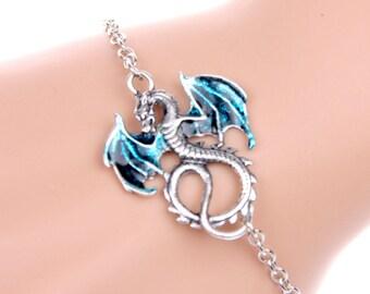 bracelet blue dragon