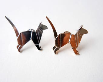 Origami Cat Brooch pin