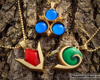 3-SET SALE Legend of Zelda Spiritual Stones Set of Charms Ocarina of Time
