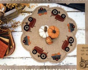 Christmas Truck Wool Table Mat Wool Applique Patterns