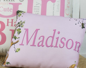 Winnie the Pooh Personalized Name Pillow Girl Nursery Decor Birthday Baptism