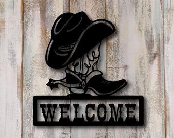 Cowboy Signs Etsy