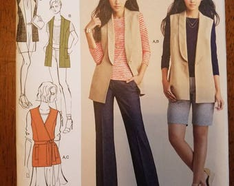 Simplicity 8054: Women's Lined Vests and Knit Top