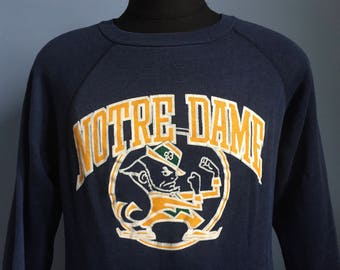 70s 80s Vintage Notre Dame Fightin Irish University ND fighting ncaa college Sweatshirt - LARGE
