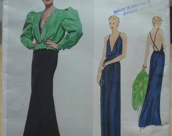 Free shipping! Vogue 2303 Bill Blass designer gown and jacket Size 8 sewing pattern UNCUT