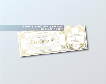 Harry Potter Birthday Invitation, Platform 9 3/4 Printable Invitation, Harry Potter Party Favors, Printable Harry Potter Invite