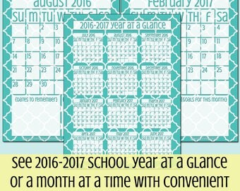 2017-2018 Homeschool Planner Dated Calendar and Cover Add On Pack