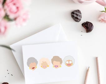 golden girls notecard - golden girls card - golden girls birthday card - golden girls christmas card - thank you for being a friend card