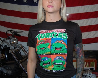 Vintage Ninja Turtle shirt 1990 90s fifty fifty