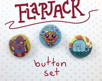 "Flapjack - K'nuckles - Bubbie - 1.25"" Button Set"