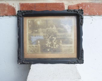 Antique Dark Decorative Wood Picture Frame/Wall Hanging