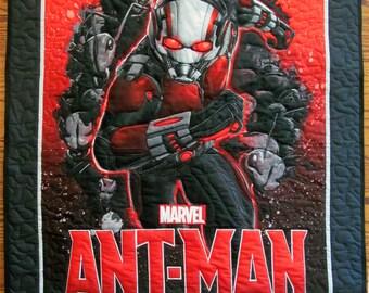 Ant-Man, Marvel Comic, Ant Man Quilt. quilt, Super Hero, Boy Quilt, Child quilt, Lap Quilt, Wall Hanging, AntMan  B-91