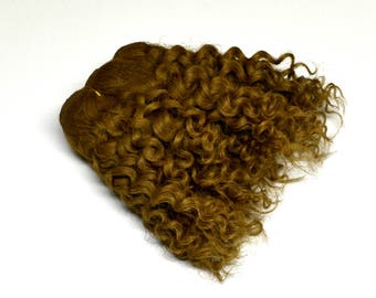 Jerry curled weft mohair, weft for mohair wig dolls, dark blond