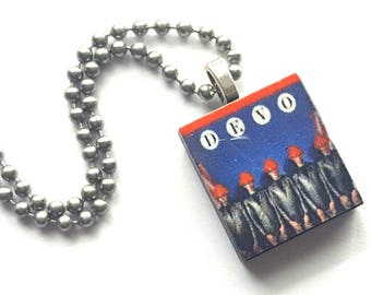 Devo Scrabble Tile Necklace with Stainless Steel Ball Chain