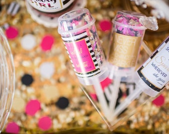 Set of 5 - Kate Spade Confetti Poppers - Party Favors