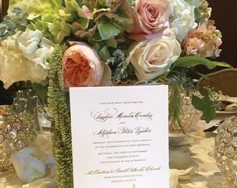 Chicago Skyline Cityscape Gold Foil Wedding Invitation (Elizabeth) | Deposit