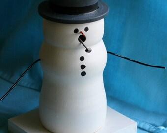 Snowman - Pipe Smoking Snowman - Christmas Smoker