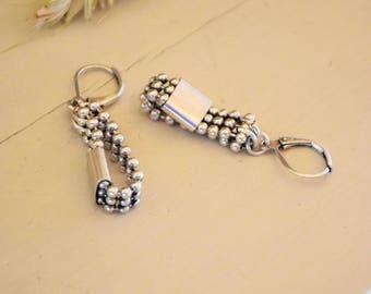 Short earrings silver Scott