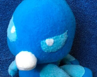 Blue Phoenix Bird Plushie / Cute Small Ice Phoenix Plush Toy