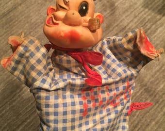 1960's Vintage Popeye Gund Hand Puppet