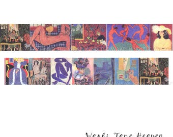 Matisse Paintings Washi Tape - 30mm x 8m - Museum Art School Planners Decoration Card-making Supply