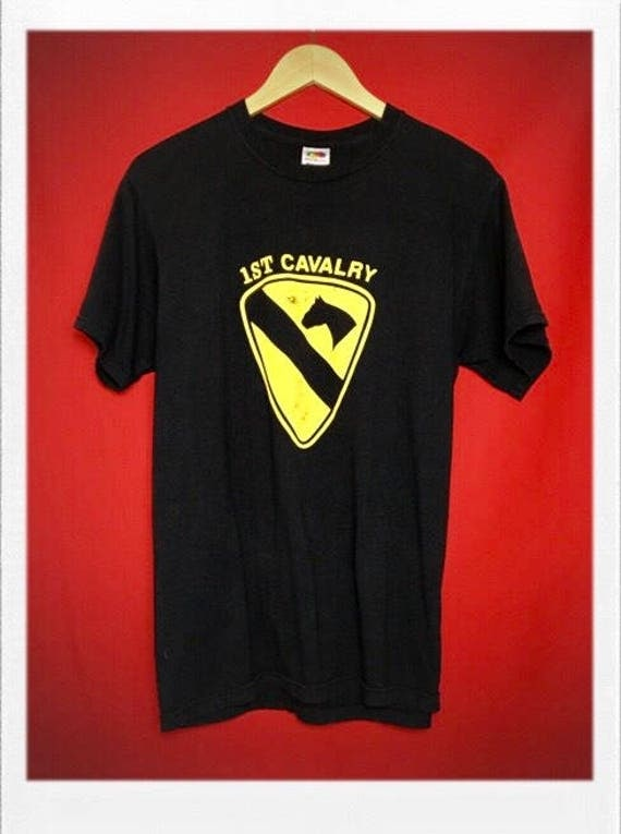 Vintage 1st Calvary US Army Tee Women's Large Men's Medium
