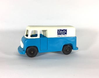 Cabell's Dairy Truck Coin Bank, Plastic, Money, Cute, Retro, 1970s