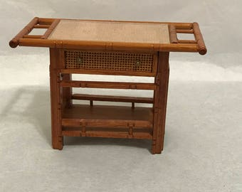 """Dollhouse Miniature  1"""" Scale Serving Table"""