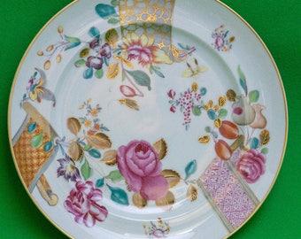 Vintage (1985-1993) Vista Alegre (Portugal) Mottahedeh Lowestoft Rose Salad Plate