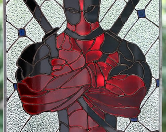 Deadpool-Inspired Stained Glass