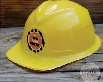 Construction Birthday, Construction Party Favor, Construction Hard Hat, Party Decoration, Under Construction, Dump Truck, Birthday Hat