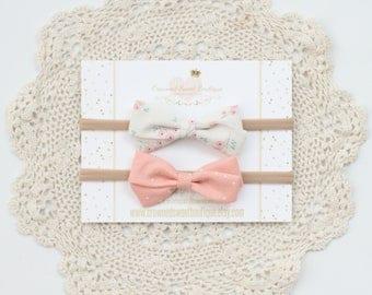 Baby Headband, Fabric Bow Headband, Floral Headband, Nylon Headband, Bow Headband, Bow, Baby Accessories, Baby Gift