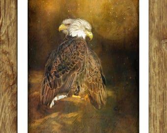 The Guardians Eagle Pair Fantasy Dreamy Wildlife