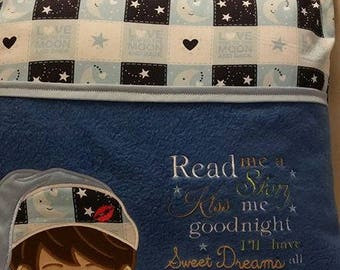 Read Me A Story Kiss Me Good Night Reading Pocket Pillow
