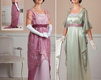 Edwardian /Titanic Dress  #1517 /1911 1917 /High Waist Dresses/Costume (New Pattern) Size 14-22