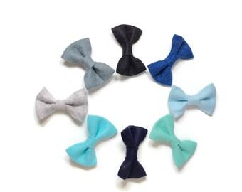 Baby Boy Bowtie || Bow Tie || Birthday Boy Bow Tie || Add to Crown or Hat || Custom Color