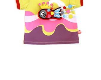 BEEETÚ Baby T-shirt surf girl and cheerful fish