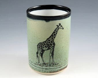 Giraffe. Porcelain Cup - 13 oz. Only one.