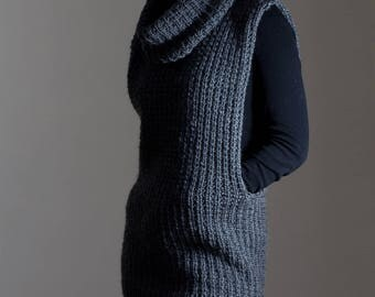 Pullover Sweater Knitting Pattern - instructions on How To Knit - TOUGHNESS